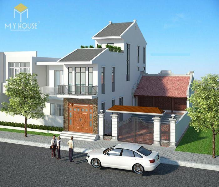 Bản vẽ kiến trúc nhà phố 8x11