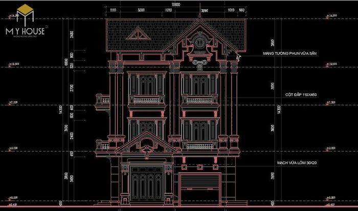 Bản vẽ nhà biệt thự mới