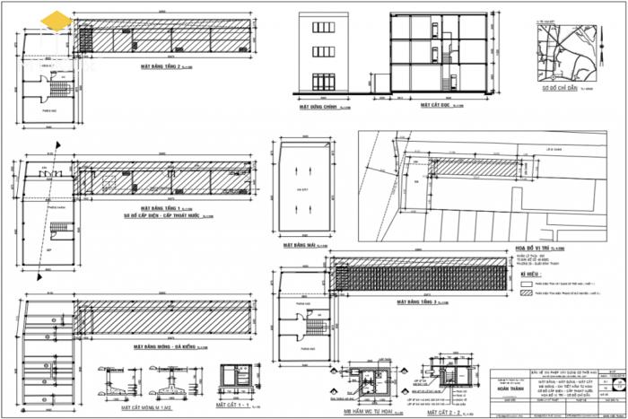 Bản vẽ xin phép xây dựng nhà phố - M1