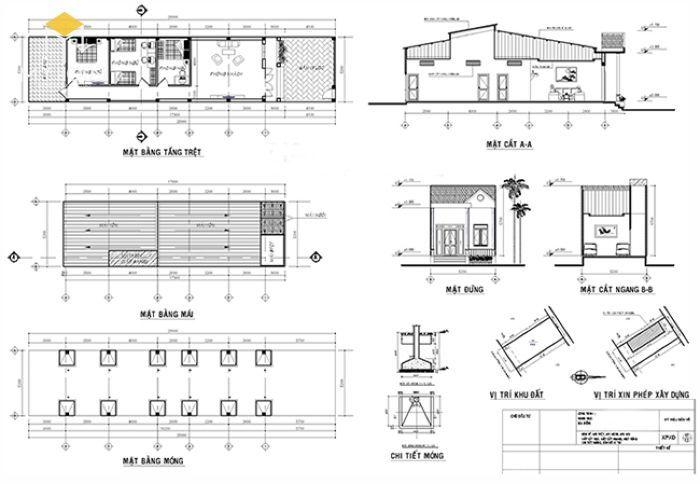 Bản vẽ xin giấy phép xây dựng nhà bao gồm những gì?