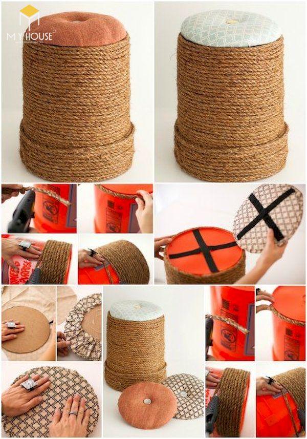 Ý tưởng làm bàn ghế handmade - Mẫu 4