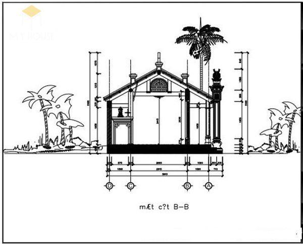Bản vẽ thiết kế nhà thờ họ đẹp - View 7
