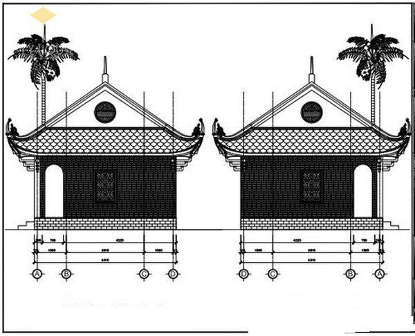 Bản vẽ thiết kế nhà thờ họ đẹp - View 6