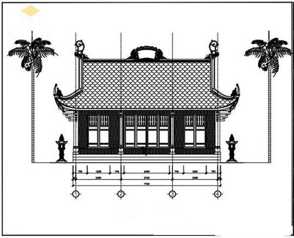 Bản vẽ thiết kế nhà thờ họ đẹp - View 5