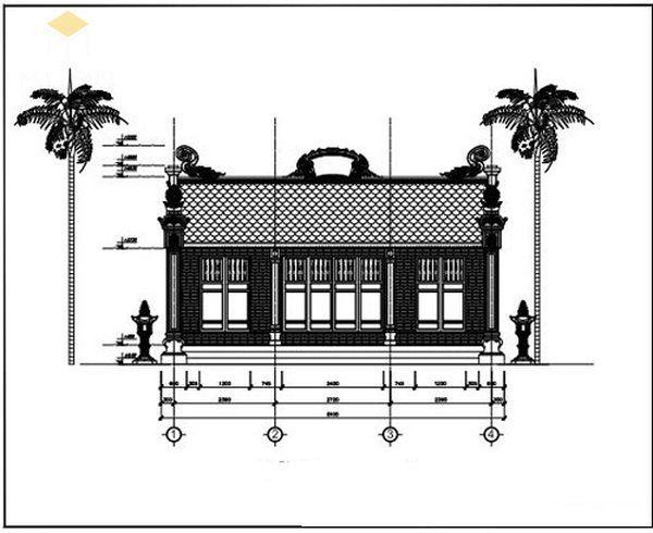 Bản vẽ thiết kế nhà thờ họ đẹp - View 4