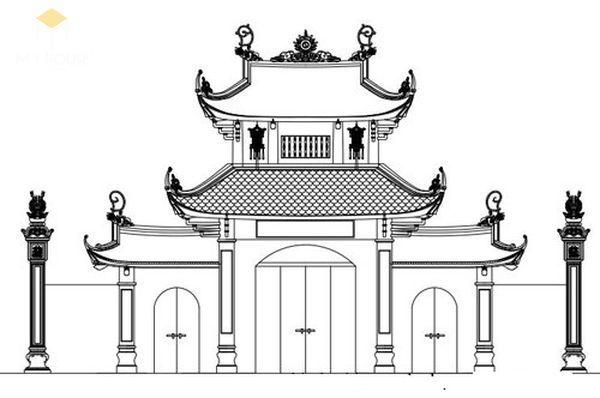 Bản vẽ thiết kế nhà thờ họ đẹp - View 3