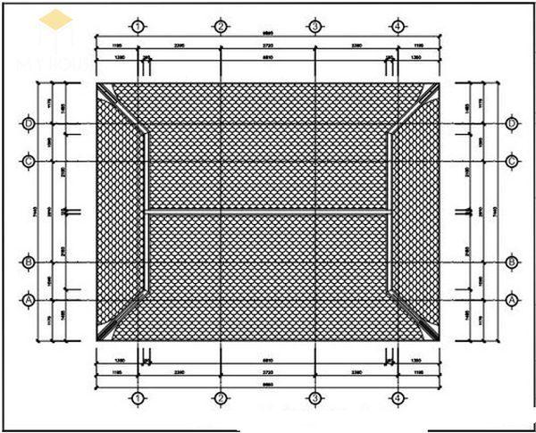 Bản vẽ thiết kế nhà thờ họ đẹp - View 2