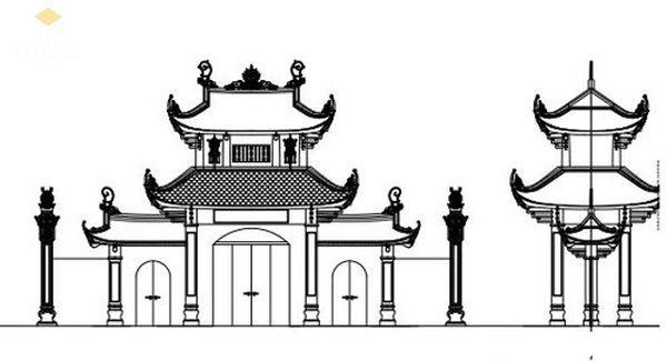 Bản vẽ thiết kế nhà thờ họ đẹp - View 1