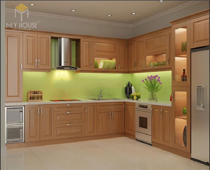 Bản vẽ 3D tủ bếp hiện đại kèm bàn đảo