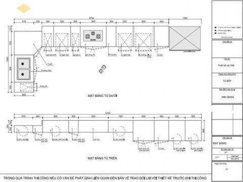 Bản vẽ tủ bếp 12