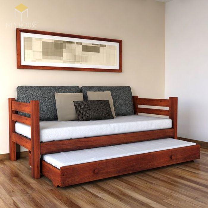 Ghế sofa gỗ kéo ra thành giường 13