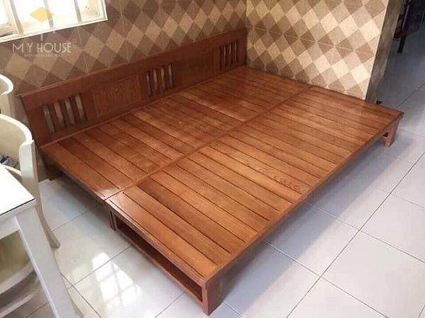 Ghế sofa gỗ kéo ra thành giường 19
