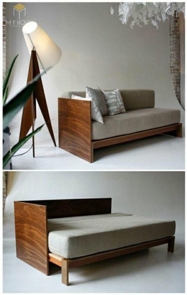Ghế sofa gỗ kéo ra thành giường 21