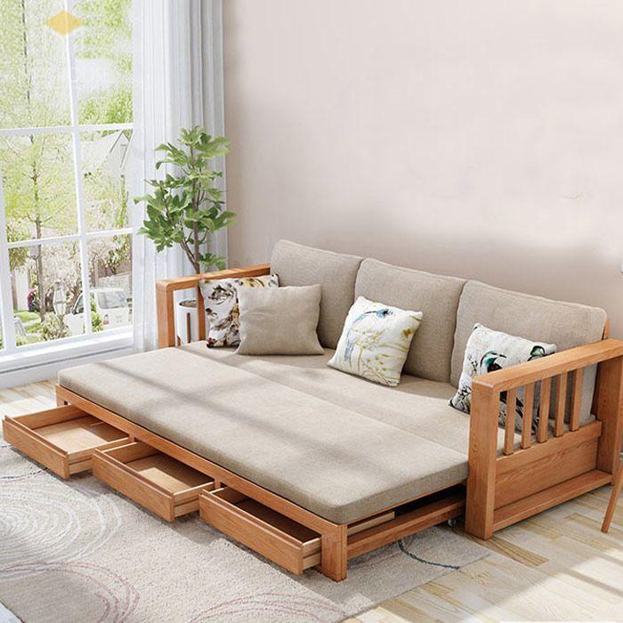 Ghế sofa léo thành giường hiện đại thông minh - Mẫu 17
