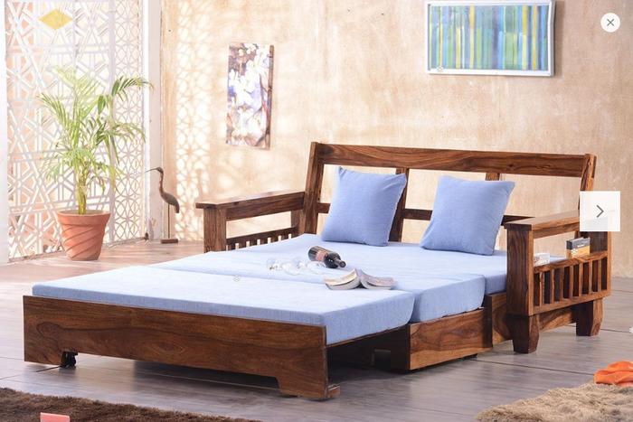 Ghế sofa léo thành giường hiện đại thông minh - Mẫu 1