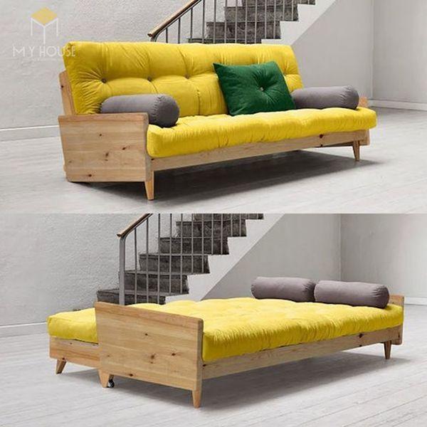 Ghế sofa gỗ kéo ra thành giường 14
