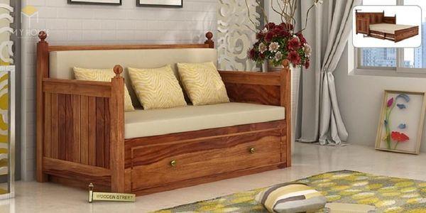 Ghế sofa gỗ kéo ra thành giường 15
