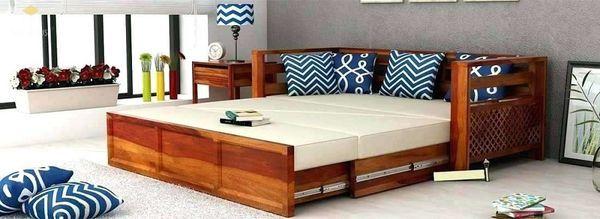 Ghế sofa gỗ kéo ra thành giường 16