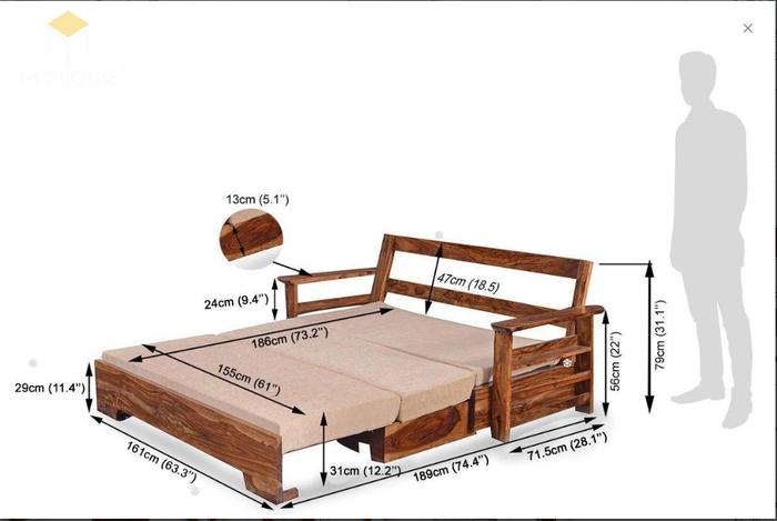 Ghế sofa léo thành giường hiện đại thông minh - Mẫu 6