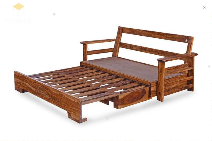 Ghế sofa gỗ kéo ra thành giường 12