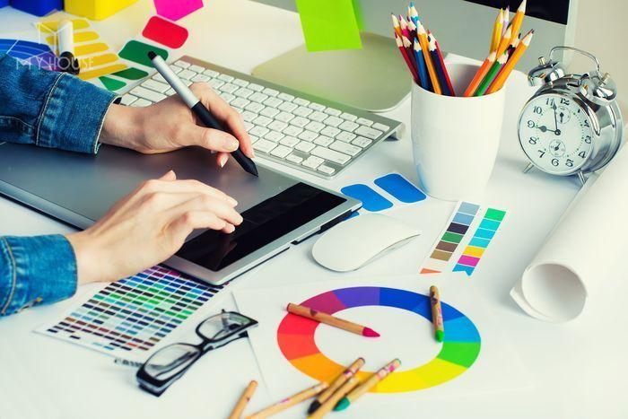 Graphic Design cũng được xem là loại hình nghệ thuật ứng dụng, kết hợp hình ảnh chữ viết