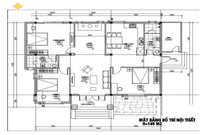 Bản vẽ nhà 3 gian đẹp