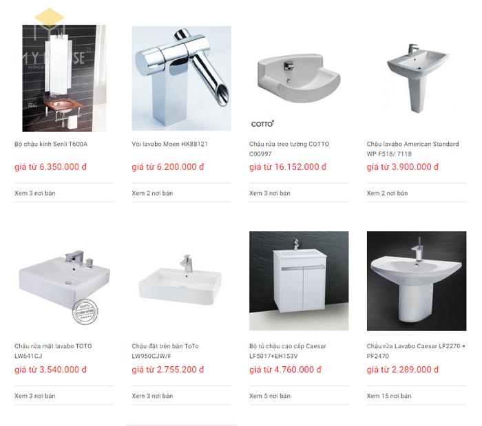 Báo giá nội thất phòng tắm - Bảng 22