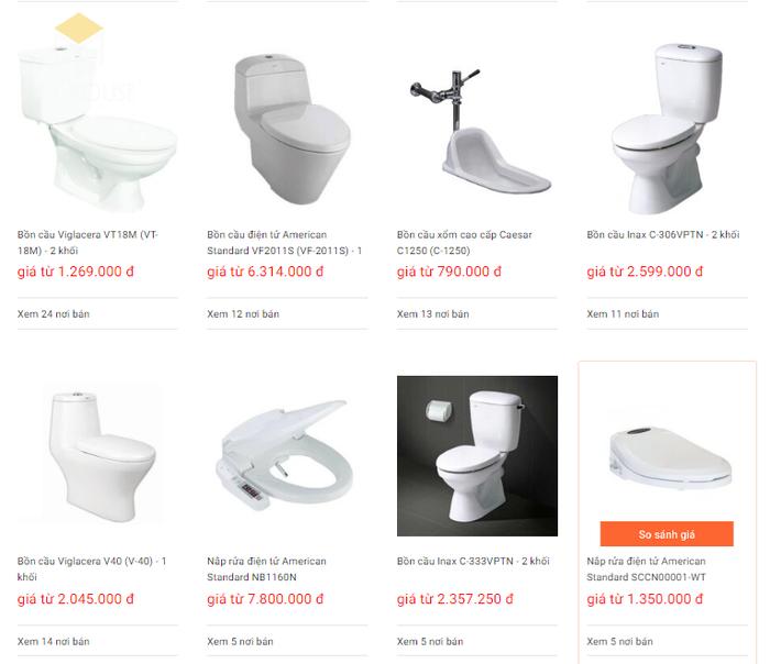 Báo giá nội thất phòng tắm - Bảng 12