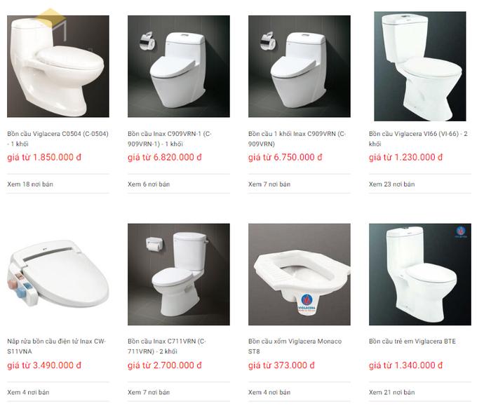 Báo giá nội thất phòng tắm - Bảng 11