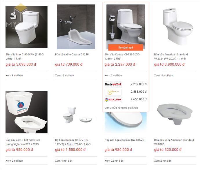 Báo giá nội thất phòng tắm - Bảng 10