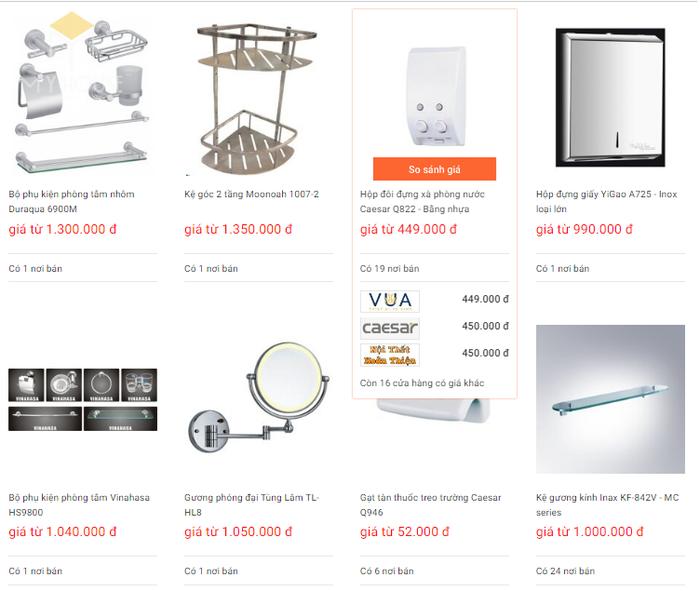 Báo giá nội thất phòng tắm - Bảng 5