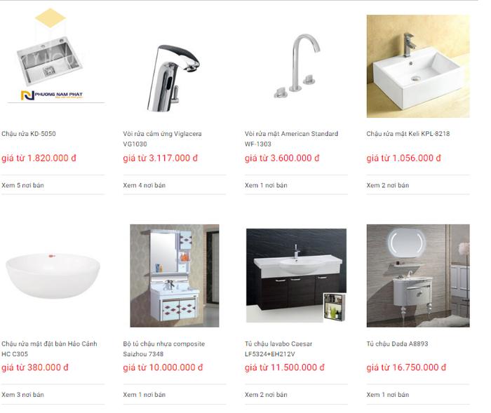 Báo giá nội thất phòng tắm - Bảng 19