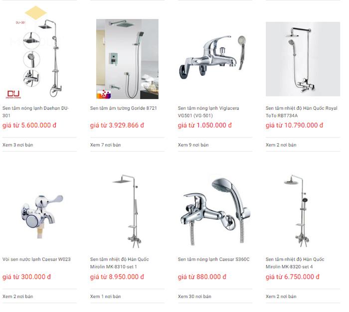 Báo giá nội thất phòng tắm - Bảng 15