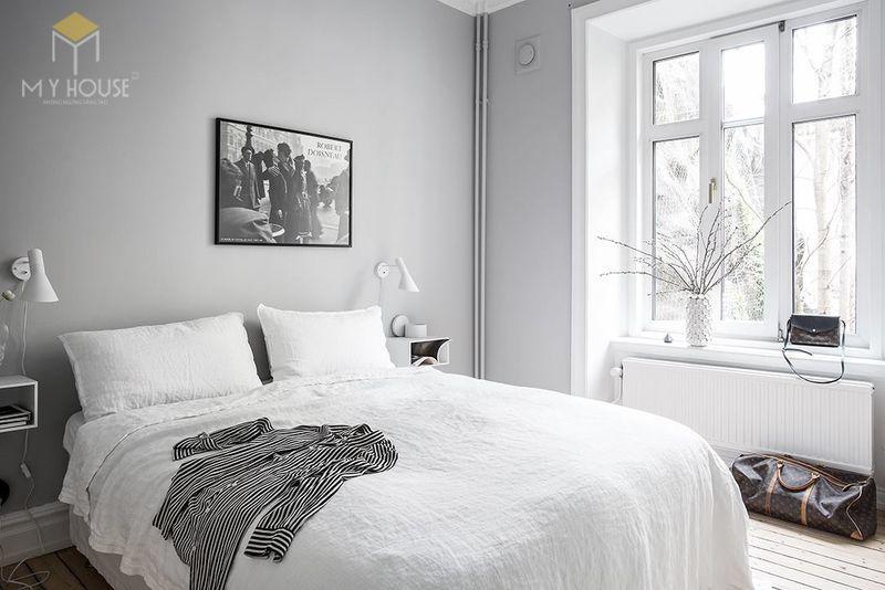 Trang trí phòng ngủ tối giản -mẫu 7