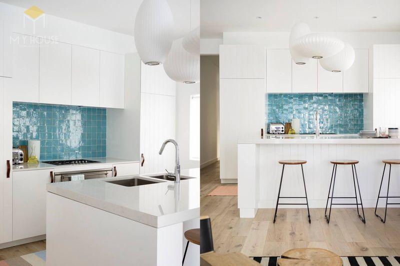 Gam màu trung tính thường được sử dụng trên các mảng tường để tạo ra một bức đệm cho các đồ nội thất bên trong