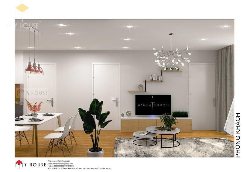 Bố trí nội thất phòng khách đơn giản - View 2