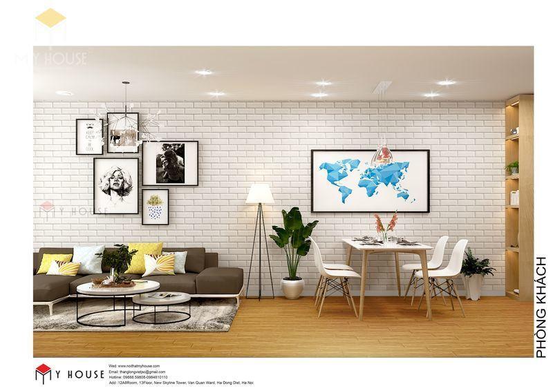 Bố trí nội thất phòng khách đơn giản - View 3