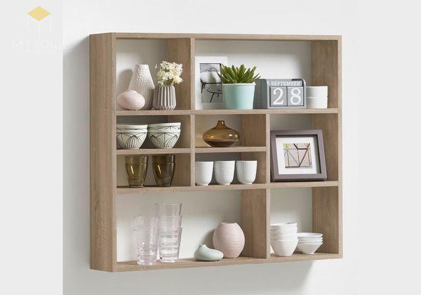 Tủ sách treo tường thiết kế đơn giản tiện dụng