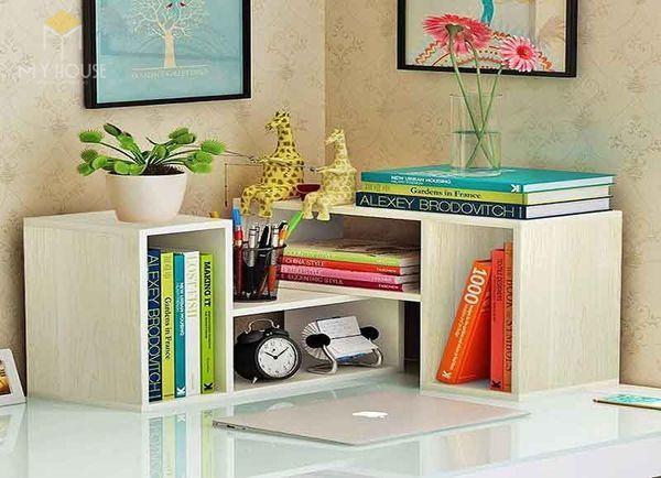 Mẫu tủ sách nhỏ bằng gỗ công nghiệp ấn tượng