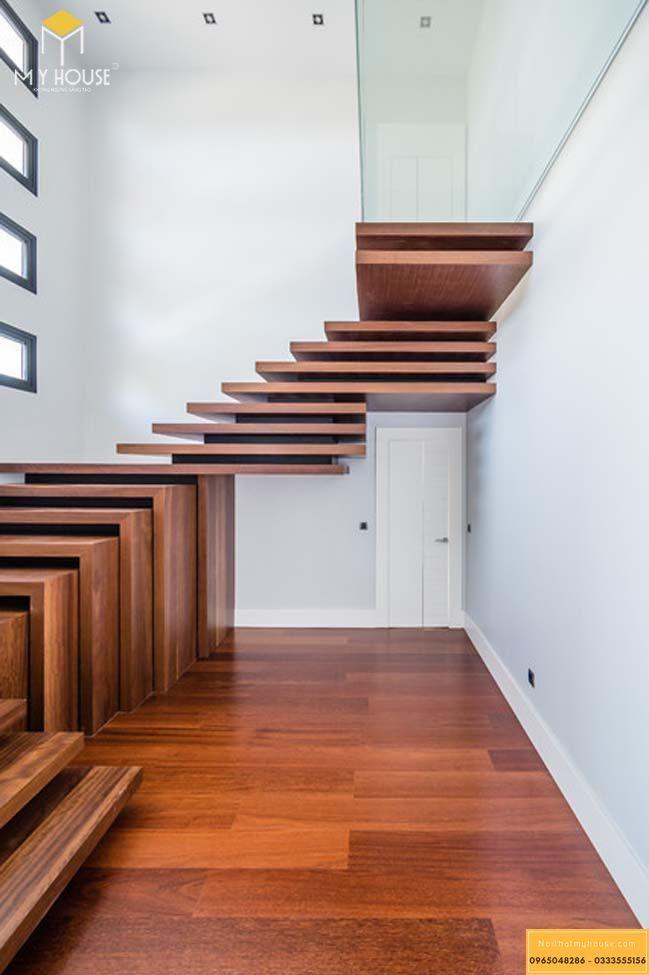 Cầu thang xương cá gỗ - m2