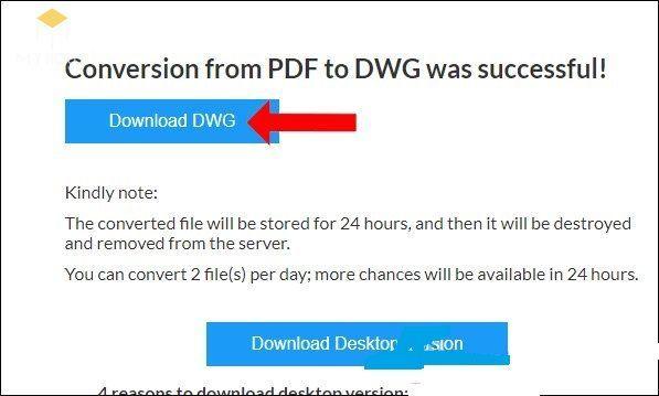 Autodwg convert PDF sang Autocad