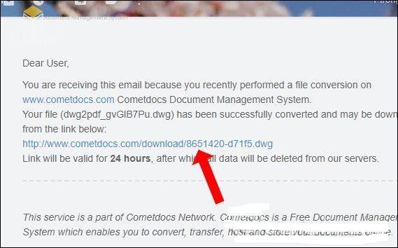 Chuyển PDF sang cad trên Cometdocs