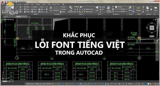 Các bước sửa lỗi font chữ trong cad
