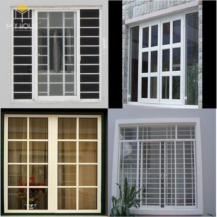 Song chắn cửa sổ nhôm kính đơn giản - M1
