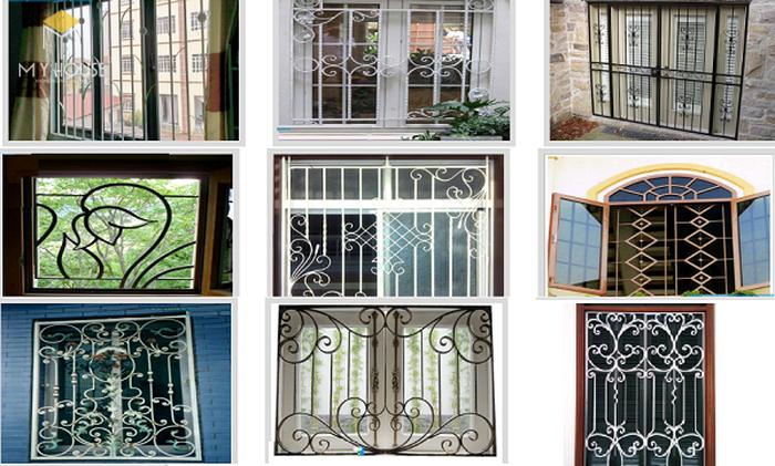 Song chắn cửa sổ sắt với nhiều hoa văn ấn tượng - M1