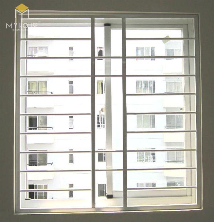 Song chắn cửa sổ inox đơn giản - M3
