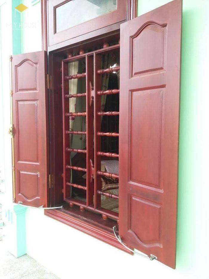 Song chắn cửa sổ gỗ đơn giản sang trọng - M9