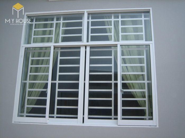 Song chắn cửa sổ inox đơn giản - M4