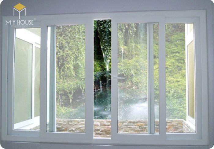 Song chắn cửa sổ nhôm kính đơn giản - M3