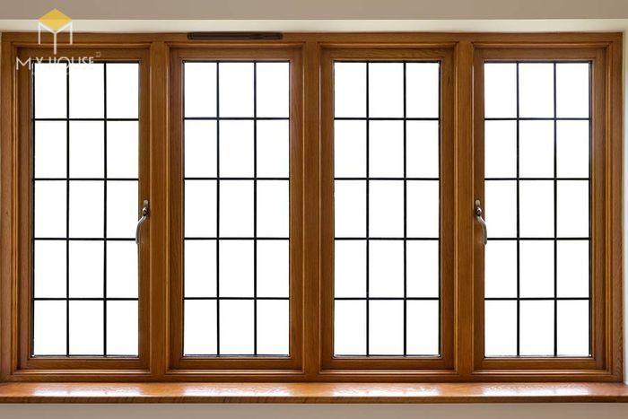Song chắn cửa sổ gỗ đơn giản sang trọng - M4